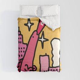 Pink Godzilla Comforters