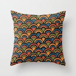 Pop Fan Pattern Throw Pillow