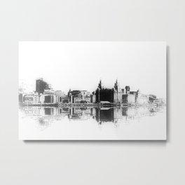 Liverpool Waterfront Skyline (Digital Art) Metal Print