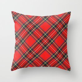 Royal Stewart Tartan Print Throw Pillow