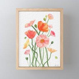 Poppies of Summer Framed Mini Art Print