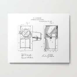 Automatic Grain Weigher Vintage Patent Hand Drawing Metal Print