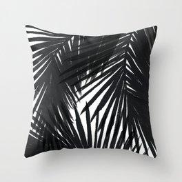 Palms Black Throw Pillow