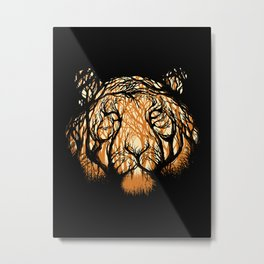 Hidden Hunter Metal Print