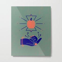 I see pumpkins - fortune teller Metal Print