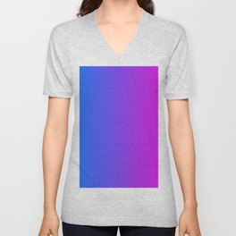 Blue To Pink Gradients Unisex V-Neck