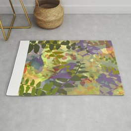 Green Butterfly Jungle Rug