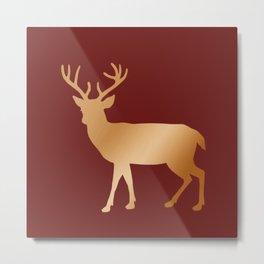 Copper Deer Metal Print