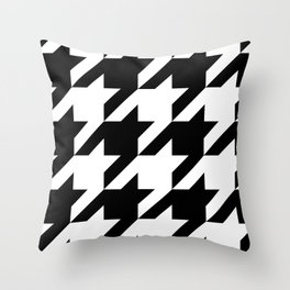 Big Houndstooth Pattern Throw Pillow
