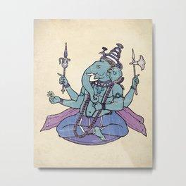 Ganesha Hindu God Art Print Metal Print
