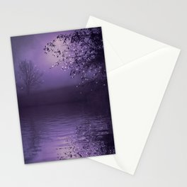 SONG OF THE NIGHTBIRD - LAVENDER Stationery Cards