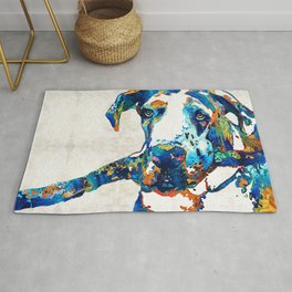 Great Dane Art - Stick With Me - By Sharon Cummings Rug