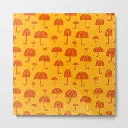 April Showers // Yellow Metal Print