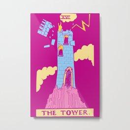 The Tower - A Femme Tarot Card Metal Print