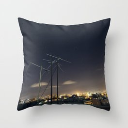 look to the sky Throw Pillow