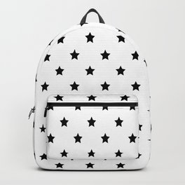 Black and white Star Pattern Backpack
