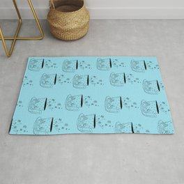 A cup of snow flakes Rug