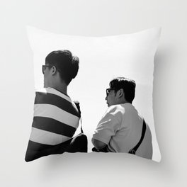 Tourists Throw Pillow