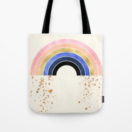 Rainbow With Gold Tote Bag