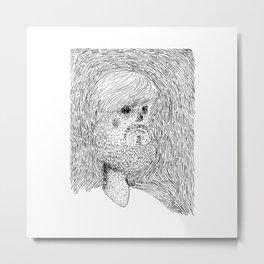 Mr. Barbe Metal Print