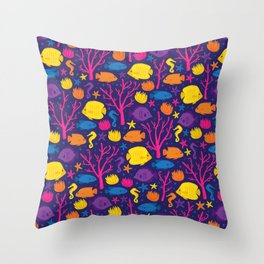 Coral Reef Crew Throw Pillow