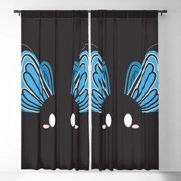 Blue Butterfly Block Blackout Curtain