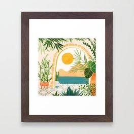 Villa View Tropical Landscape / Villa Series Framed Art Print
