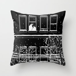 Winter with you Throw Pillow