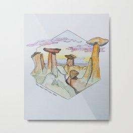 The Badlands Metal Print