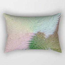 Rainbow Cowhide Calf Hair Rectangular Pillow