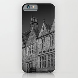 Stow-on-the-Wold Market Square Black and White Dynamic Historic Cotswolds iPhone Case