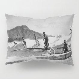 Vintage Surfing Hawaii Pillow Sham