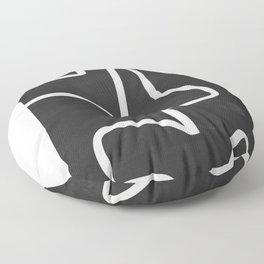 abstract minimal 61 Floor Pillow