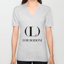 #006 - Love For Bodoni Unisex V-Neck