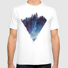 Near to the edge White MEDIUM Mens Fitted Tee