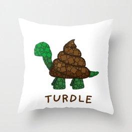 Turdle - Poop - Turtle - 57 Montgomery Art Throw Pillow