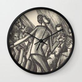 Spirituals by Lillian Richter Wall Clock