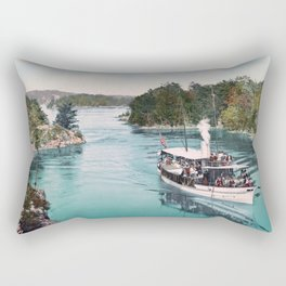 The Captain Visger Steamboat In Lost Channel - Thousand Islands - 1901 Rectangular Pillow