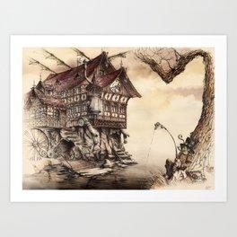 Steampunk Landscape Art Print