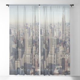 New York City / Aerial Sheer Curtain