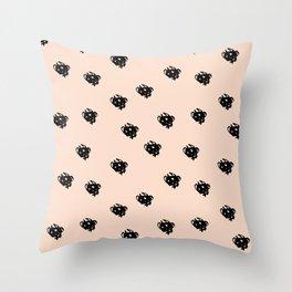 Dash doodles Seamless Pattern Throw Pillow