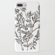 Inky Metallic Botanicals iPhone 8 Plus Slim Case