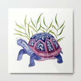 Raspberry Box Turtle Metal Print
