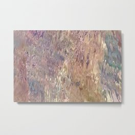 Iridescent Puddle Metal Print