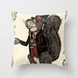 Mr Squirrelsworth Throw Pillow