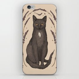 The Cat and Lavender iPhone Skin