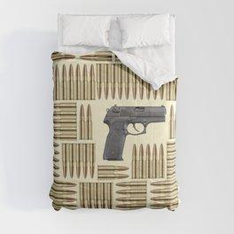 Gun and bullets Comforters