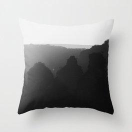 Three Sisters B&W Throw Pillow