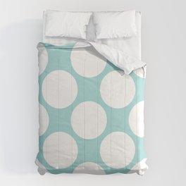 Polka Dots Blue Comforters