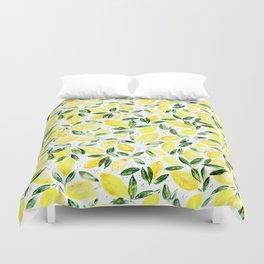 So luscious lemons || watercolor Duvet Cover